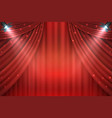 theater curtains background realistic red drapes vector image vector image