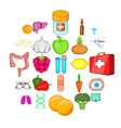 therapist icons set cartoon style vector image vector image
