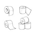 Toilet paper rolls in doodle style