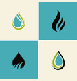water drop abstract logos vector image vector image