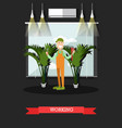 working plumber in flat style vector image vector image