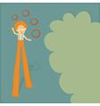 stilt walker juggler vector image