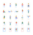 flat icons collection of people vector image