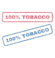 100 percent tobacco textile stamps vector image vector image