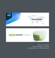 abstract set of modern horizontal website