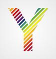 Alphabet Letter Y vector image