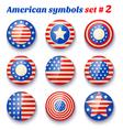 american symbols set2 vector image vector image