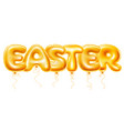 balloons letters easter vector image