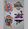 basketball badge design collection vector image vector image