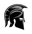 black spartan helmet vector image vector image
