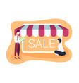 businessman holding money buying business sale vector image