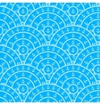 Circle With Anchor Shape Seamless Pattern