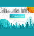 city silhouettes composition vector image