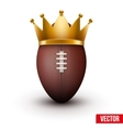 Classic rugby ball with royal crown vector image