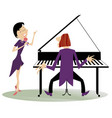 couple musicians singer woman and pianist man vector image