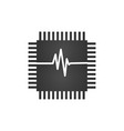 cpu central processing unit check computer chip vector image vector image