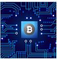 cyber money blue network connection bitcoin crypto vector image