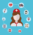 Doctor nurse concept flat icons set hospital vector image vector image