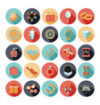 Fashion accessories flat icons vector image vector image
