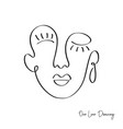 fashion one line drawing women faces vector image vector image