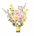 flower bouquet floral bunch design object vector image vector image