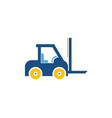 forklift logistic logo icon design vector image