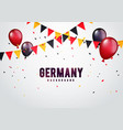 germany celebration background with banner vector image vector image