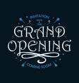 grand opening vintage poster vector image vector image