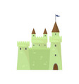 Green cute brick castle knights tower king