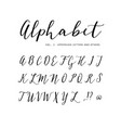hand drawn alphabet script font isolated vector image vector image