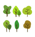 hand drawn tree set vector image vector image