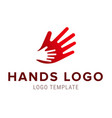hand to hand logo abstract logo design vector image
