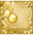 Happy New Year Beautiful Gold Design vector image vector image