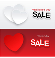 heart banner vector image vector image