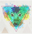 hipster polygonal animal koala on artistic vector image vector image
