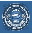 Hockey championship logo labels sport vector image vector image