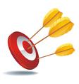 icon target arrows vector image vector image