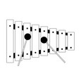 isolated xylophone icon musical instrument vector image