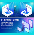 isometric voting concept of presidential elections vector image vector image