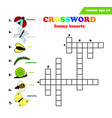 kids crossword with seven different funny insects vector image vector image