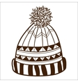 Knitted cap isolated on white vector image vector image