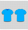 light blue men s t-shirt template v-neck front vector image