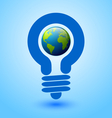 Lightbulb earth vector image vector image