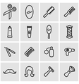 line barber icon set vector image vector image