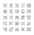 Line-icons-with-detail-11 vector image vector image