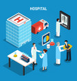 medical isometric concept vector image vector image