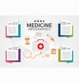medicine phamacy infographic set healthcare vector image vector image