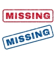 Missing Rubber Stamps vector image vector image