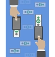 Money transfer in flat design vector image