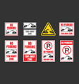 no parking tow away zone sign set vector image vector image